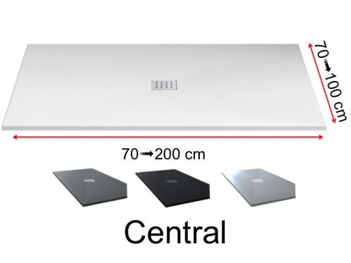 Shower tray central drain - Central Pizarra