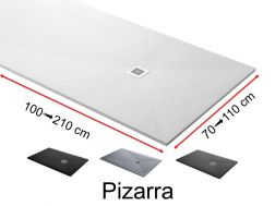 Shower tray custom, extra flat - PIZARRA