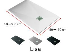 Shower trays, very large, smooth finish - LISA
