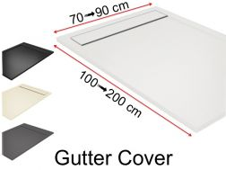 Gutter shower tray with resin grid - GUTTER COVER
