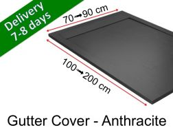 Gutter shower tray with resin grid - GUTTER COVER Anthracite