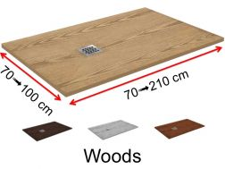 Shower trays, wood effect finish - WOOD