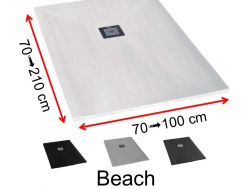 Shower tray extra-thin, sand finish - BEACH