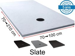 Natural slate look shower tray - SLATE