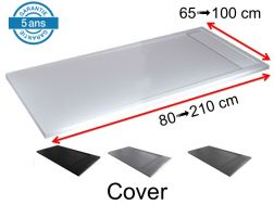 Gutter shower tray with resin drain cover - COVER