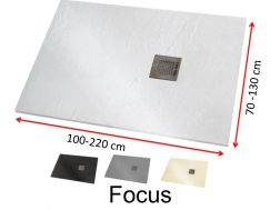 Shower tray large size, mineral resin - FOCUS