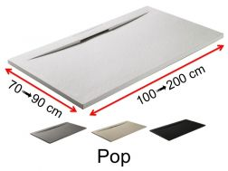 Shower tray with frontal channel - POP