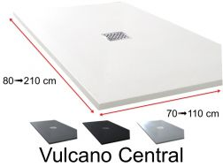 Shower tray central drain - VULCANO CENTRAL