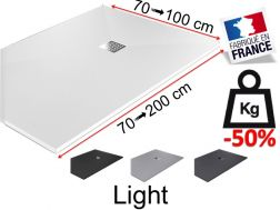 Lightweight shower tray, in lightened mineral resin - LIGHT