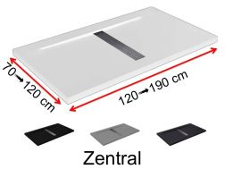 Shower tray central drain - ZENTRAL