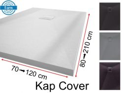 Shower tray, with resin drain cover - KAP CORVER