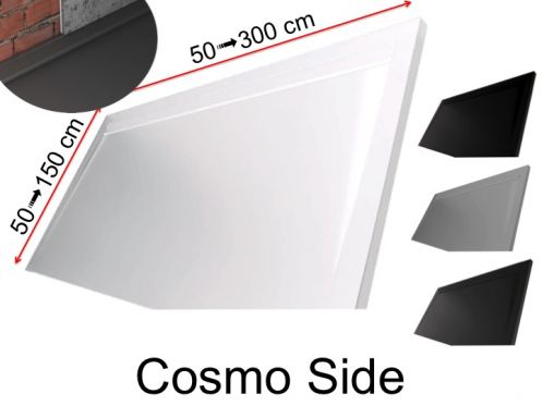 Shower tray with designer channel on the length - COSMO SIDE