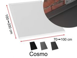 Gutter shower tray with discreet evacuation - COSMO