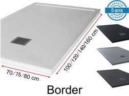 Shower tray with overflow guard - BORDER