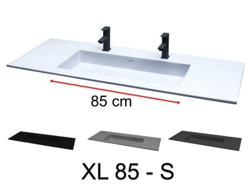 Double washbasin, 101 x 46 cm, suspended or recessed - XL 85 S.