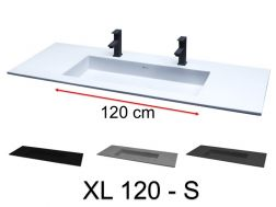 Double washbasin, 141 x 46 cm, large size - XL 120 S.
