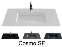 Washstand, 121 x 46 cm, channel basin - COSMO SF 50