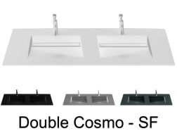 Double washbasin top, 161 x 46 cm, washbasin washbasin - COSMO SF Double