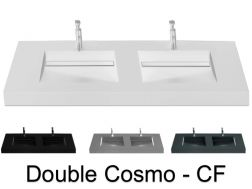 Double washbasin top, 160 x 50 cm, washbasin washbasin - COSMO CF Double