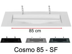 Double washbasin top, 161 x 46 cm, washbasin washbasin - COSMO 85 SF Double