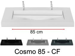 Double washbasin top, 160 x 50 cm, washbasin washbasin - COSMO 85 CF