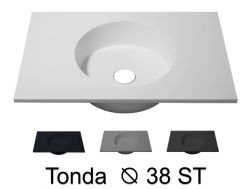 Round washbasin top 120 x 50 cm, hanging or standing - TONDA Ø 38 ST
