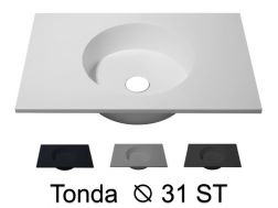 Round washbasin top 40 x 50 cm, hanging or standing - TONDA Ø 31 ST