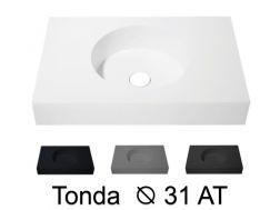 Round washbasin top 40 x 50 cm, hanging or standing - TONDA Ø 31 AT