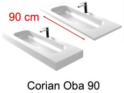 Washstand, 50 x 120 cm, Solid Surface type Corian - OBA 90
