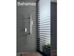 Built-in shower, mixer tap and design knob - BAHAMAS CHROME