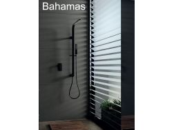 Built-in shower, Matte black mixer and design knob - BAHAMAS BLACK