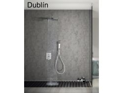 Built-in shower, mixer and knob 25 x 25 - DUBLIN CHROME