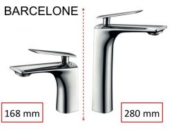 Design mixer tap, height 168 or 280 mm - BARCELONE CHROME