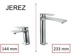 Design Washbasin tap, mixer, height 144 and 233 mm - JEREZ CHROME
