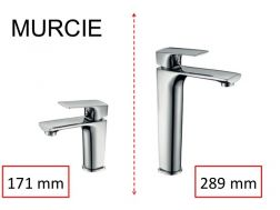 Mixer tap, height 171 or 289 mm - MURCIE CHROME