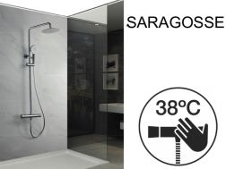 Shower column, thermostatic - SARAGOSSE CHROME