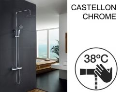 Shower column, thermostatic - CASTELLON CHROME