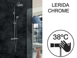 Shower column, thermostatic - LERIDA CHROME