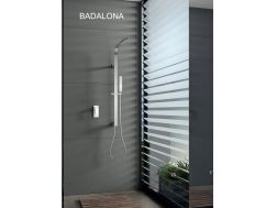 Built-in shower, mixer tap and design knob - BADALONA CHROME