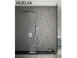 Built-in shower, mixer and knob 25 x 25 - HUELVA CHROME