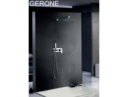 Built-in shower, mixer and knob 25 x 25 - GERONE CHROME