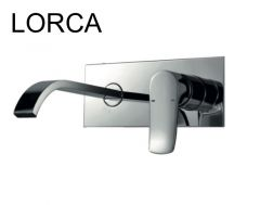 Concealed wall-mounted mixer tap, 200 mm long - LORCA CHROME