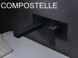 Recessed wall-mounted faucet, single lever, length 175 mm - COMPOSTELLE BLACK