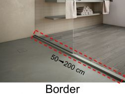 Border, anti-overflow, in resin of the color of the shower trays - PIERRE