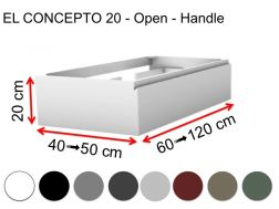 Custom bathroom cabinet, integrated handle, height 20 cm, lacquered finish - EL CONCEPTO