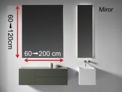 Mirror, for bathroom cabinet, custom made - MIRROR