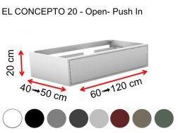 Custom bathroom cabinet, push-button opening, height 20 cm, lacquered finish - EL CONCEPTO 20 Open Push in