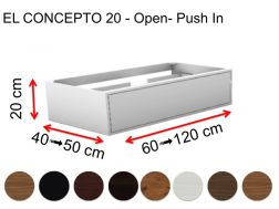 Custom bathroom furniture, push open, height 20 cm, wood finish - EL CONCEPTO 20 Open Push in Wood