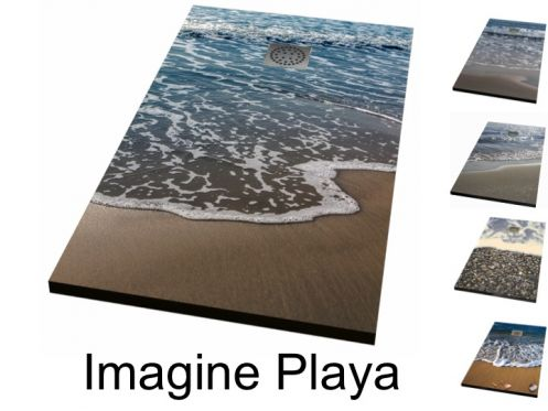 Shower tray, decorated with a personalized image - IMAGINE PLAYA