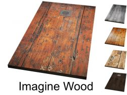 Shower tray, decorated with a personalized image - IMAGINE WOOD